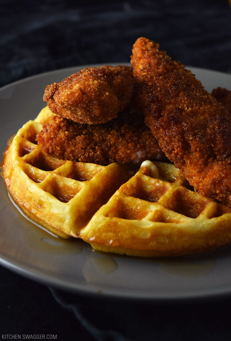 Spicy Fried Chicken And Waffles Recipe Kitchen Swagger