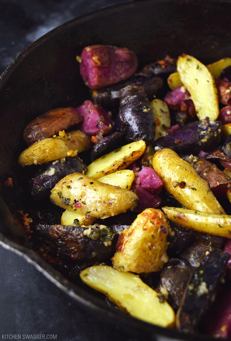 Garlic and Parmesan Fingerling Potatoes Recipe