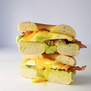 "<span class=""entry-title-primary"">Bacon Egg and Avocado Breakfast Sandwich Recipe</span> <span class=""entry-subtitle"">My Favorite breakfast sandwich made with a fried egg, cheddar cheese, maple bacon, and avocado.</span>"