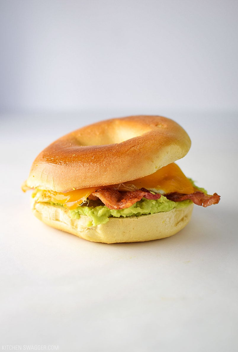 Bacon Egg and Avocado Breakfast Sandwich Recipe