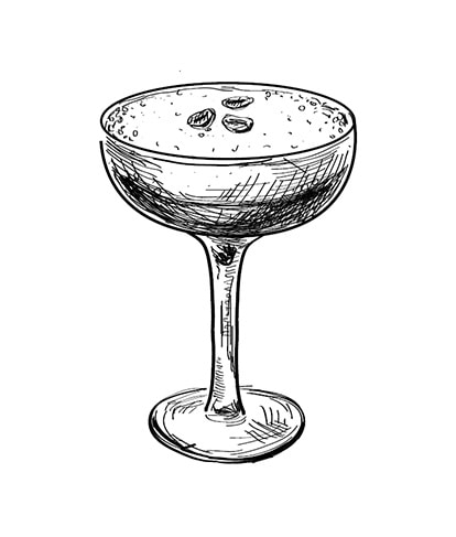 Cocktail glass sketch