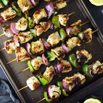 Grilled Lemon Pepper Chicken Kebabs Recipe