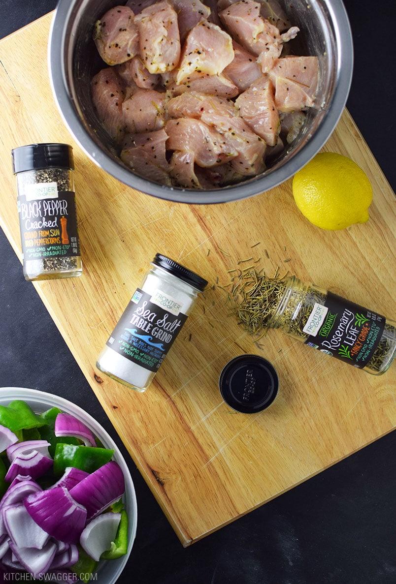 Grilled Lemon Pepper Chicken Kebab Recipe