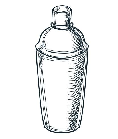 Cocktail shaker sketch