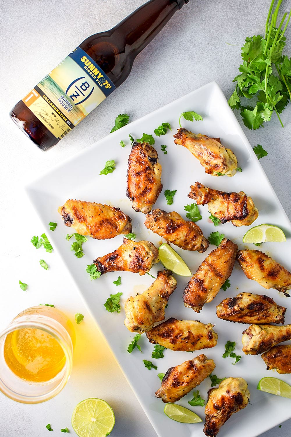 Grilled Tequila Lime Chicken Wings Recipe
