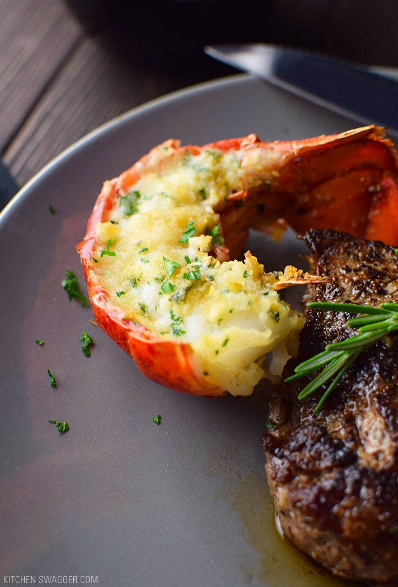 Steak and Lobster Tails: Surf and Turf for Two