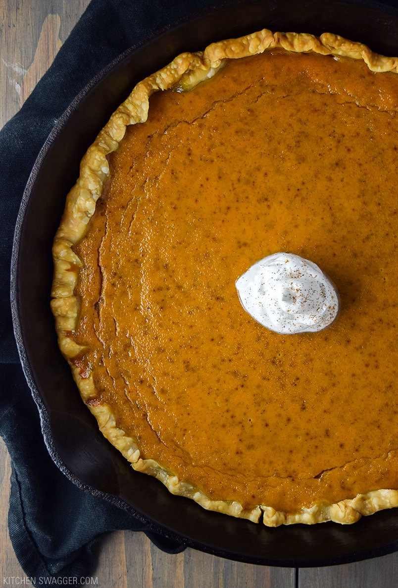 Skillet Pumpkin Pie Recipe