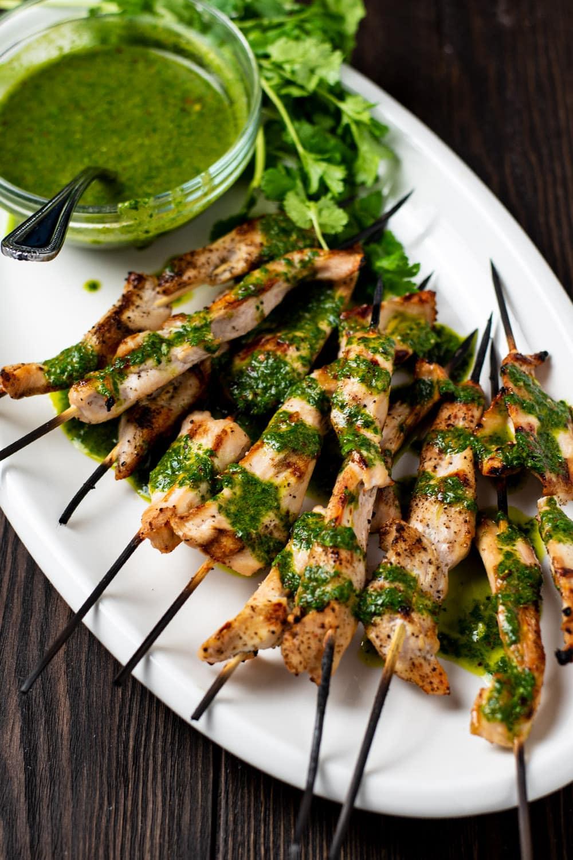 Chimichurri Chicken Skewers Recipe