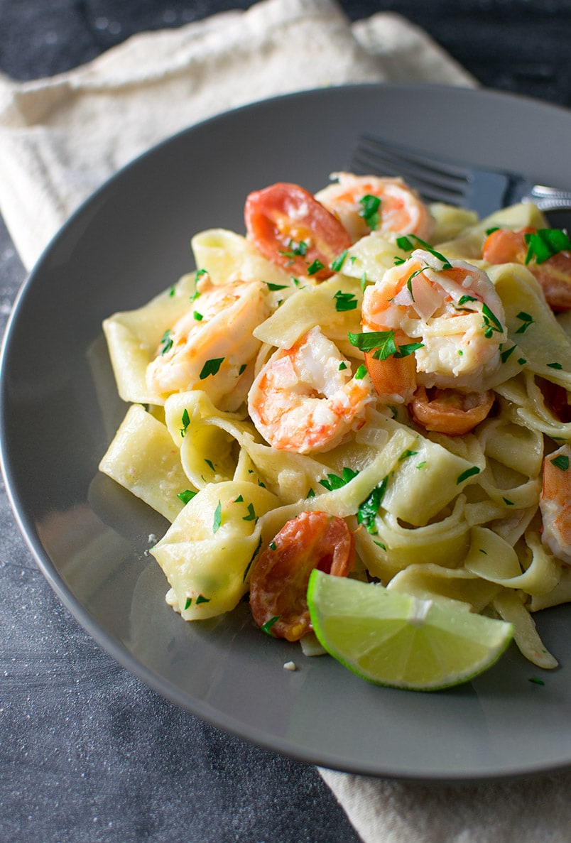 Pappardelle with Truffle Oil and Shrimp Recipe