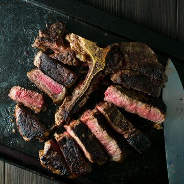 "<span class=""entry-title-primary"">Perfect Porterhouse Steak for Two Recipe</span> <span class=""entry-subtitle"">A massive pan-seared porterhouse steak, prepared with the swagger method, perfect for 2-3 people.</span>"