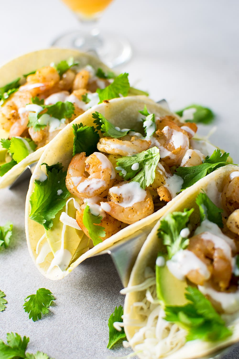 Spicy Shrimp Tacos with Creamy Lime Sauce