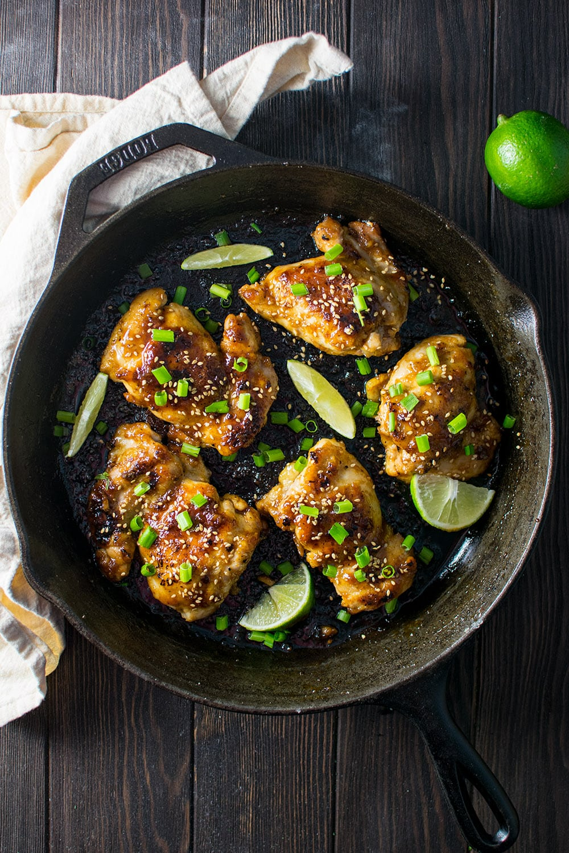 Honey Garlic Chicken Thighs Recipe