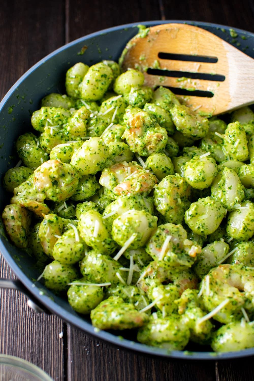 Pesto Gnocchi with Shrimp Recipe