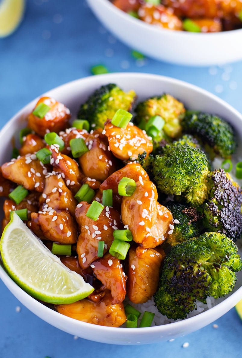 Sweet and Spicy Chicken and Broccoli Bowl Recipe | Kitchen ...