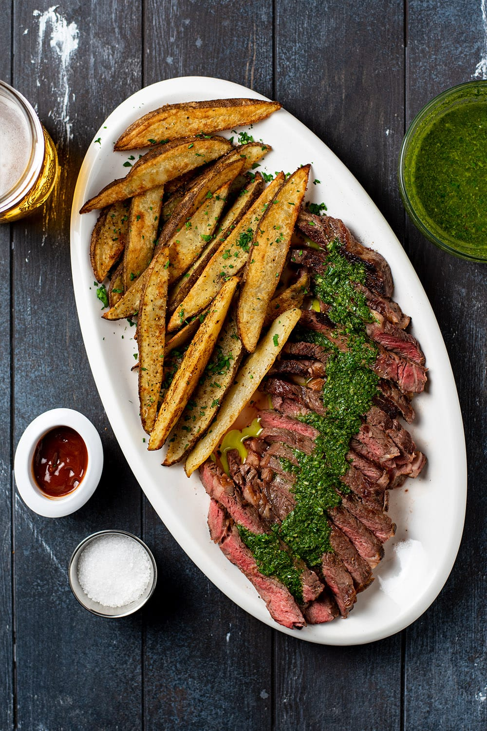 Steak Frites with Chimichurri Sauce Recipe