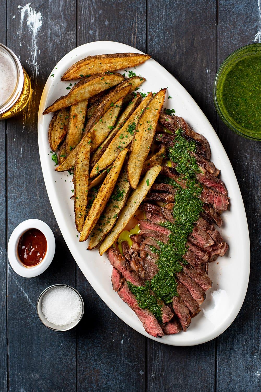 Steak Frites with Chimichurri Sauce Recipe