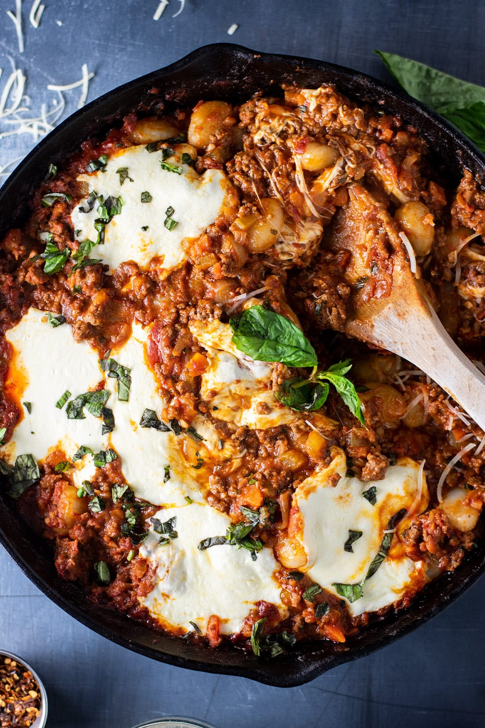Cheesy Gnocchi Bolognese With Mozzarella Recipe Kitchen Swagger