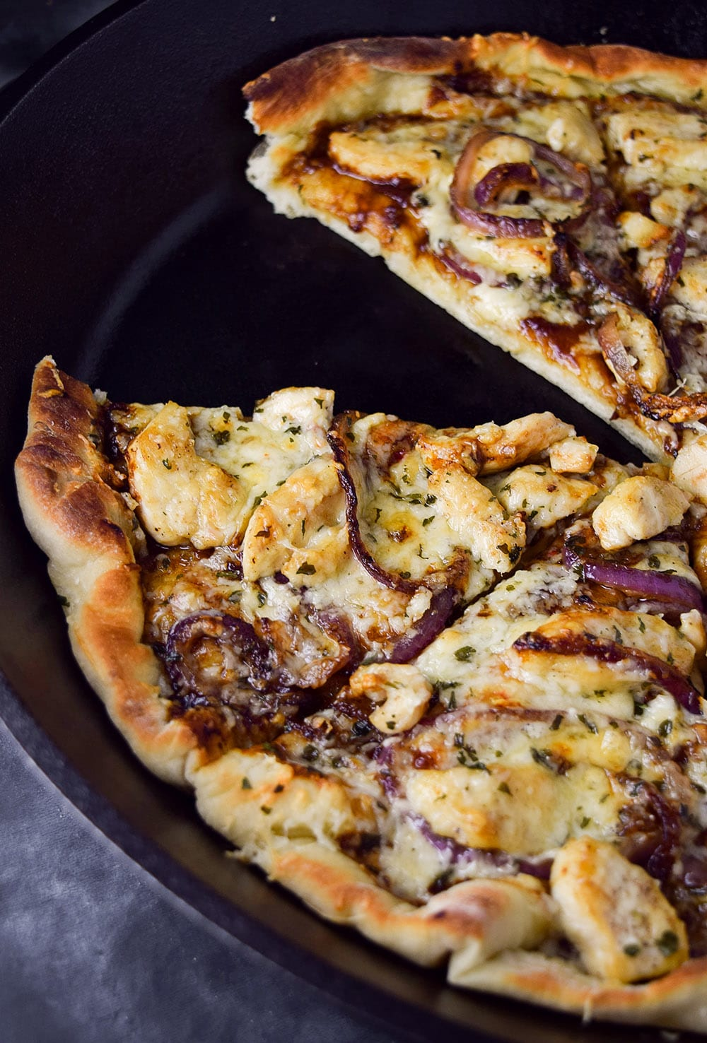 Skillet BBQ Chicken Pizza Recipe
