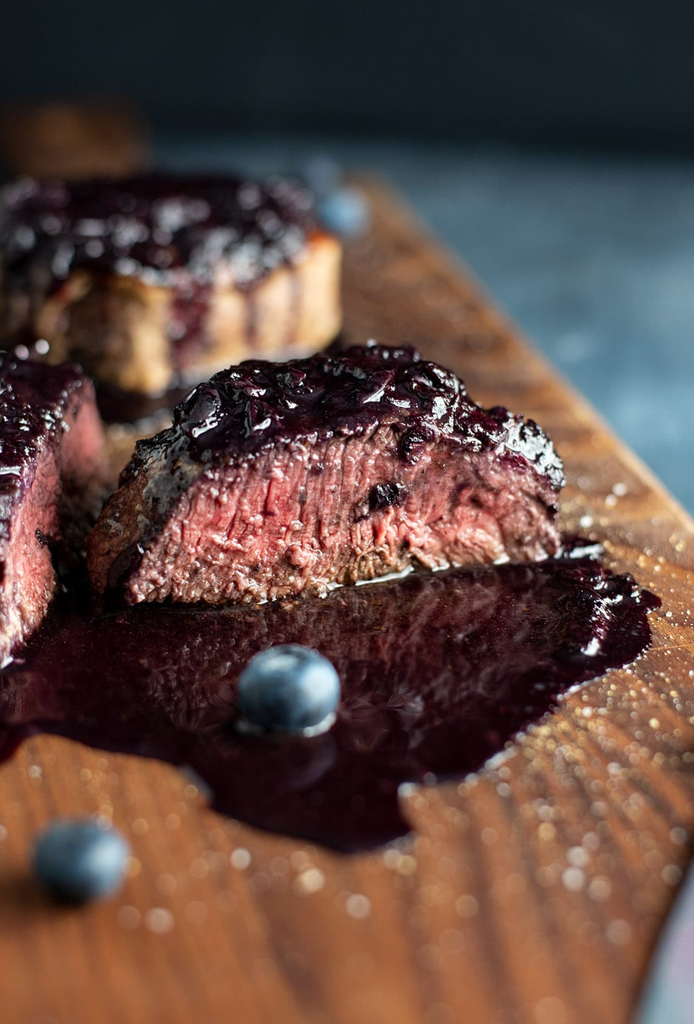 Filet Mignon with Blueberry Glaze Recipe