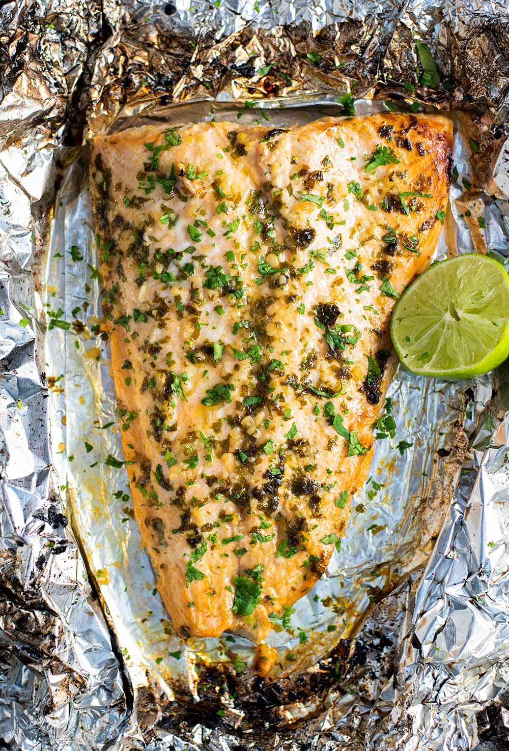 Cilantro Lime Salmon in Foil Recipe