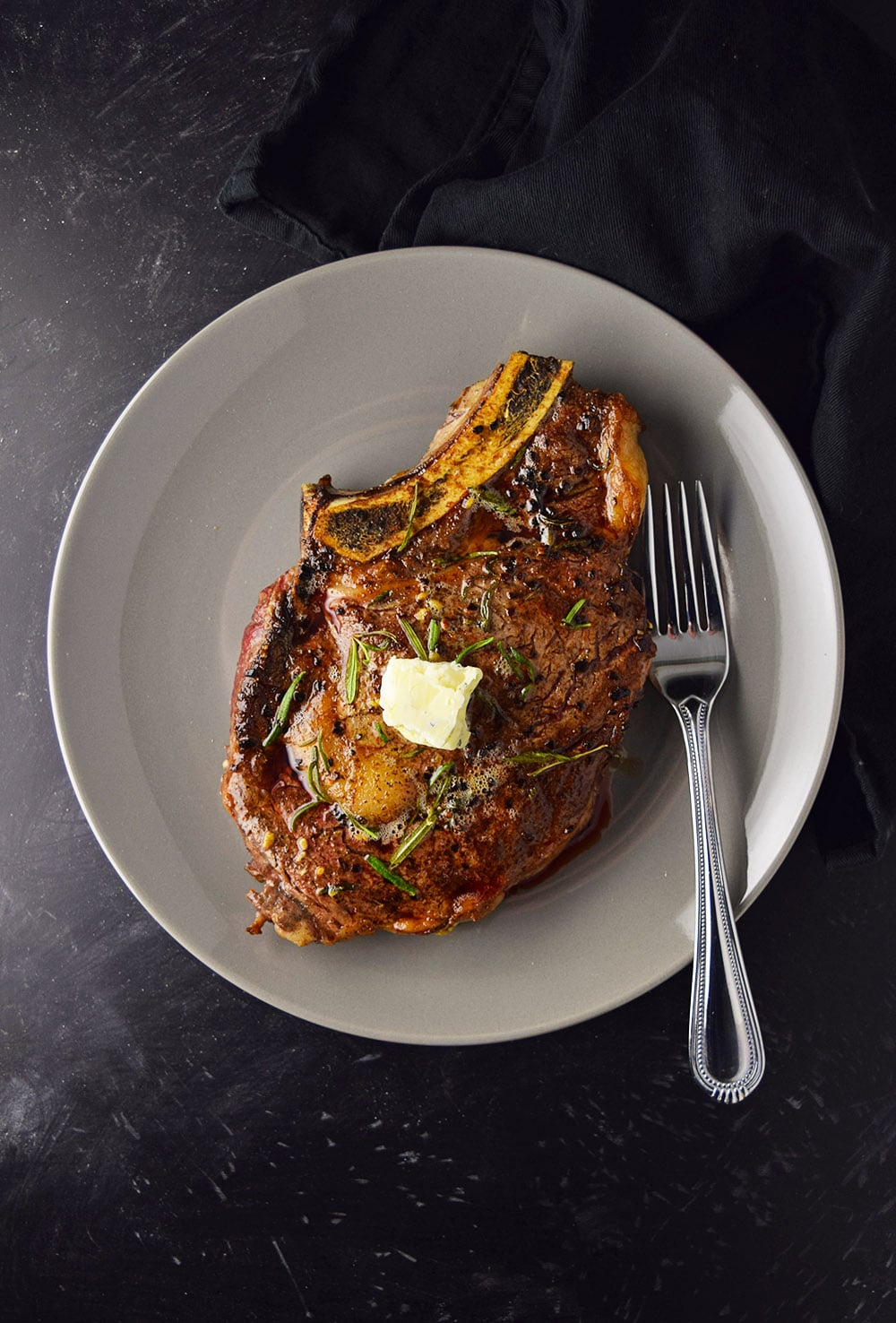 Pan-Seared Ribeye Steak with Blue Cheese Butter Recipe