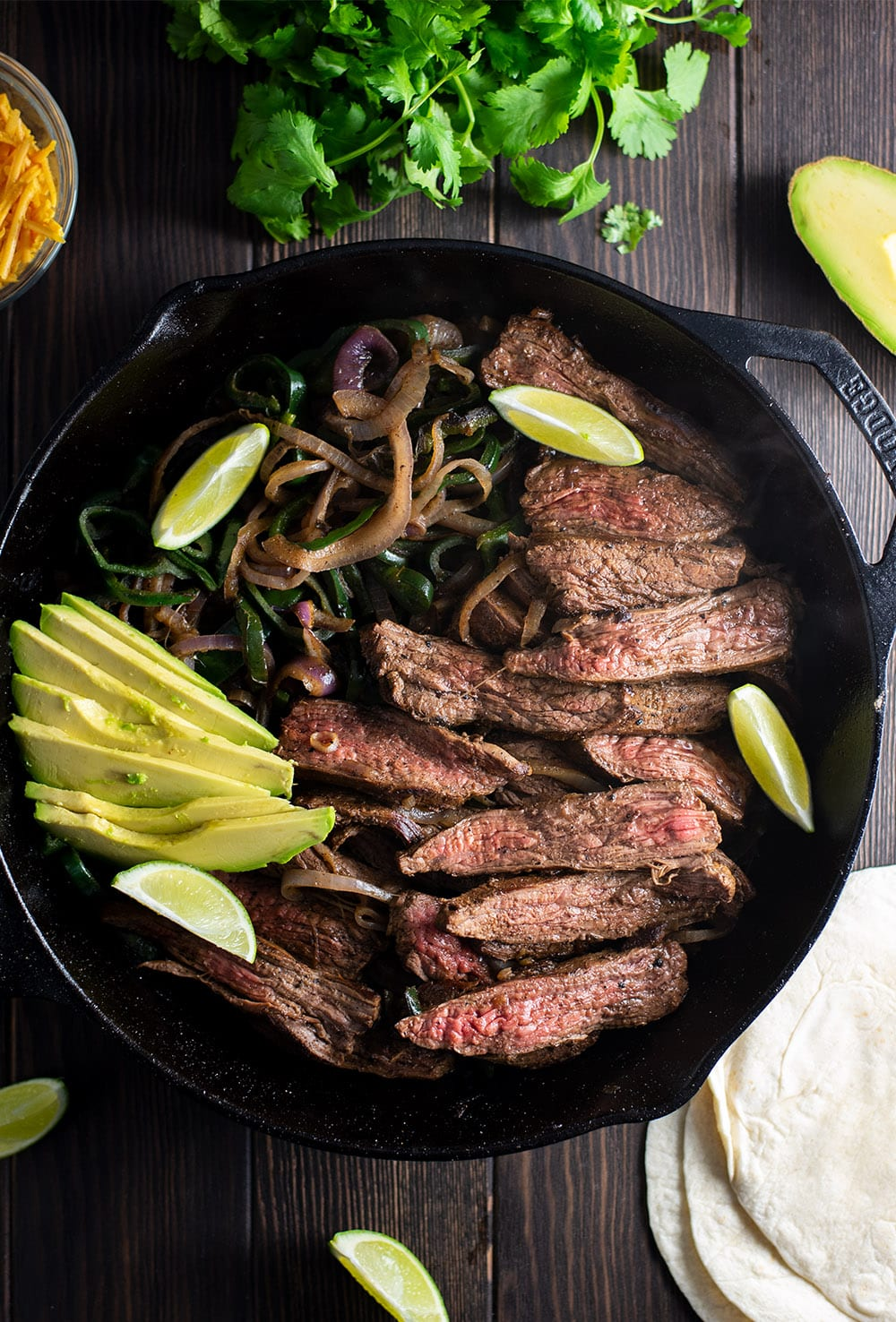 How to make steak fajitas in a cast iron skillet