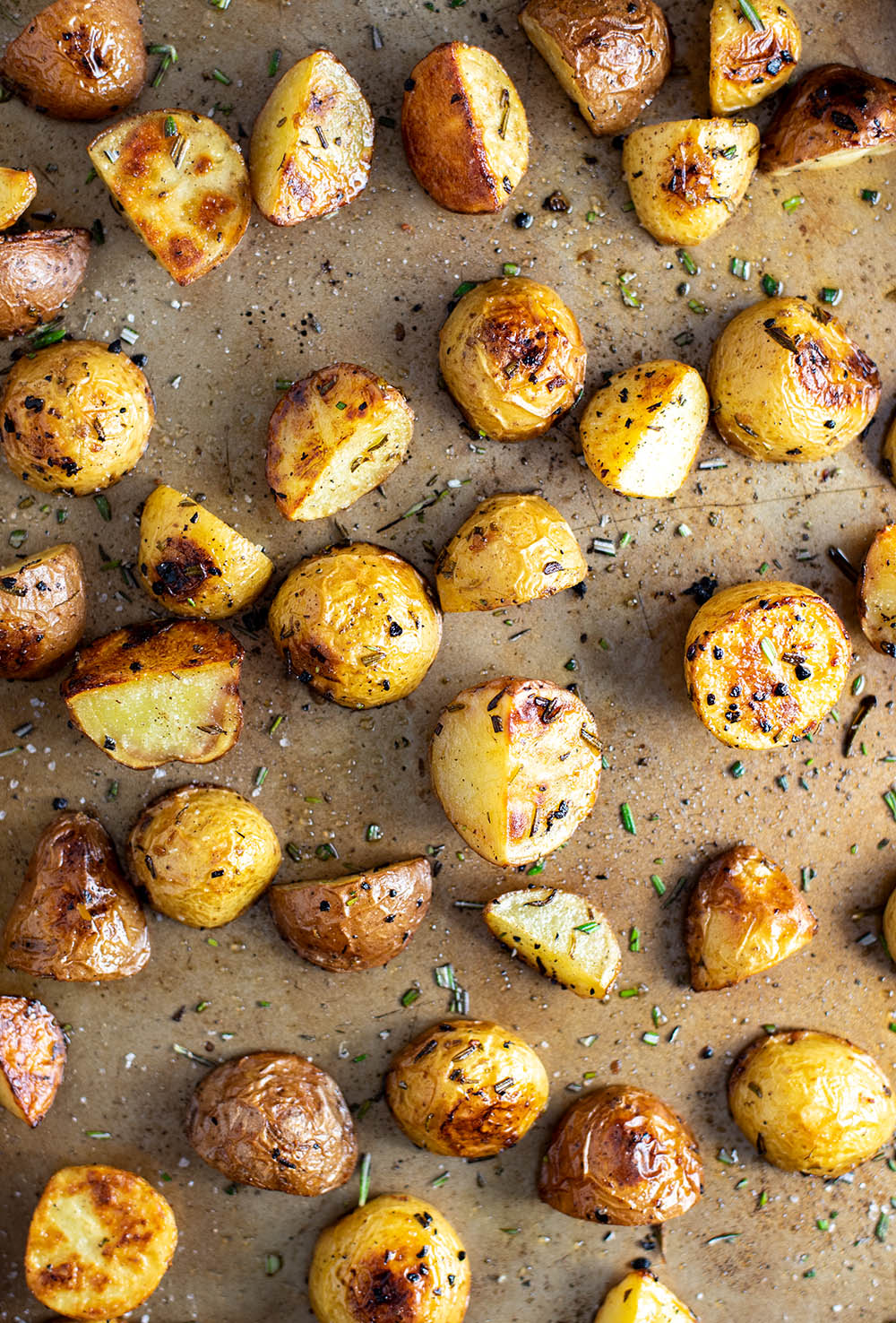 Roasted Baby Potatoes with Garlic Rosemary and Truffle Oil Recipe