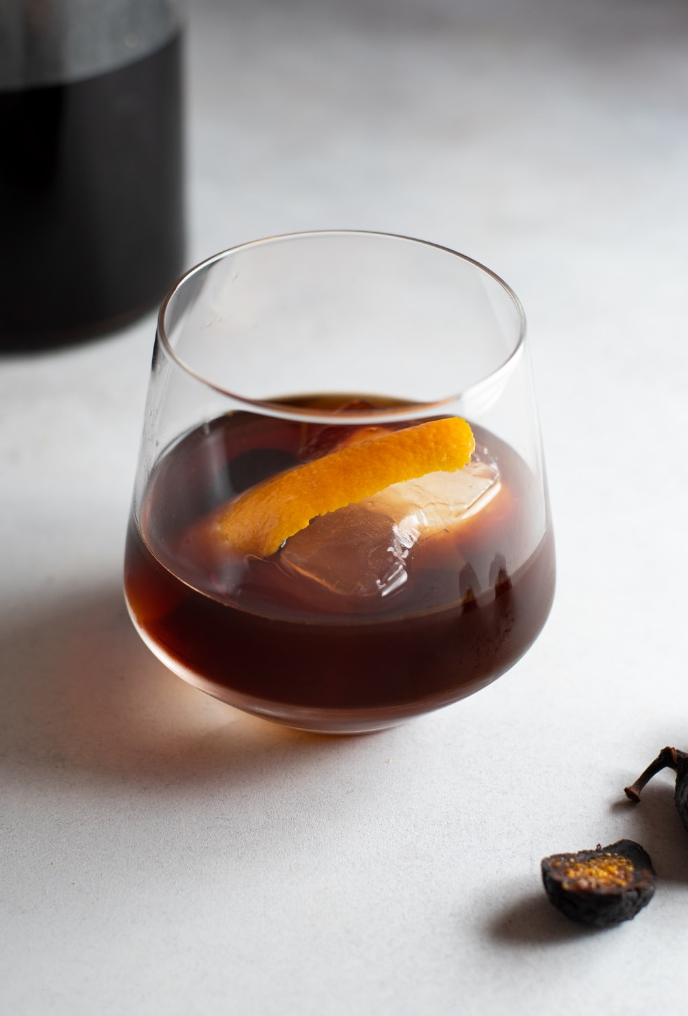 Fig and Vanilla Infused Bourbon Recipe + Old Fashioned Cocktail