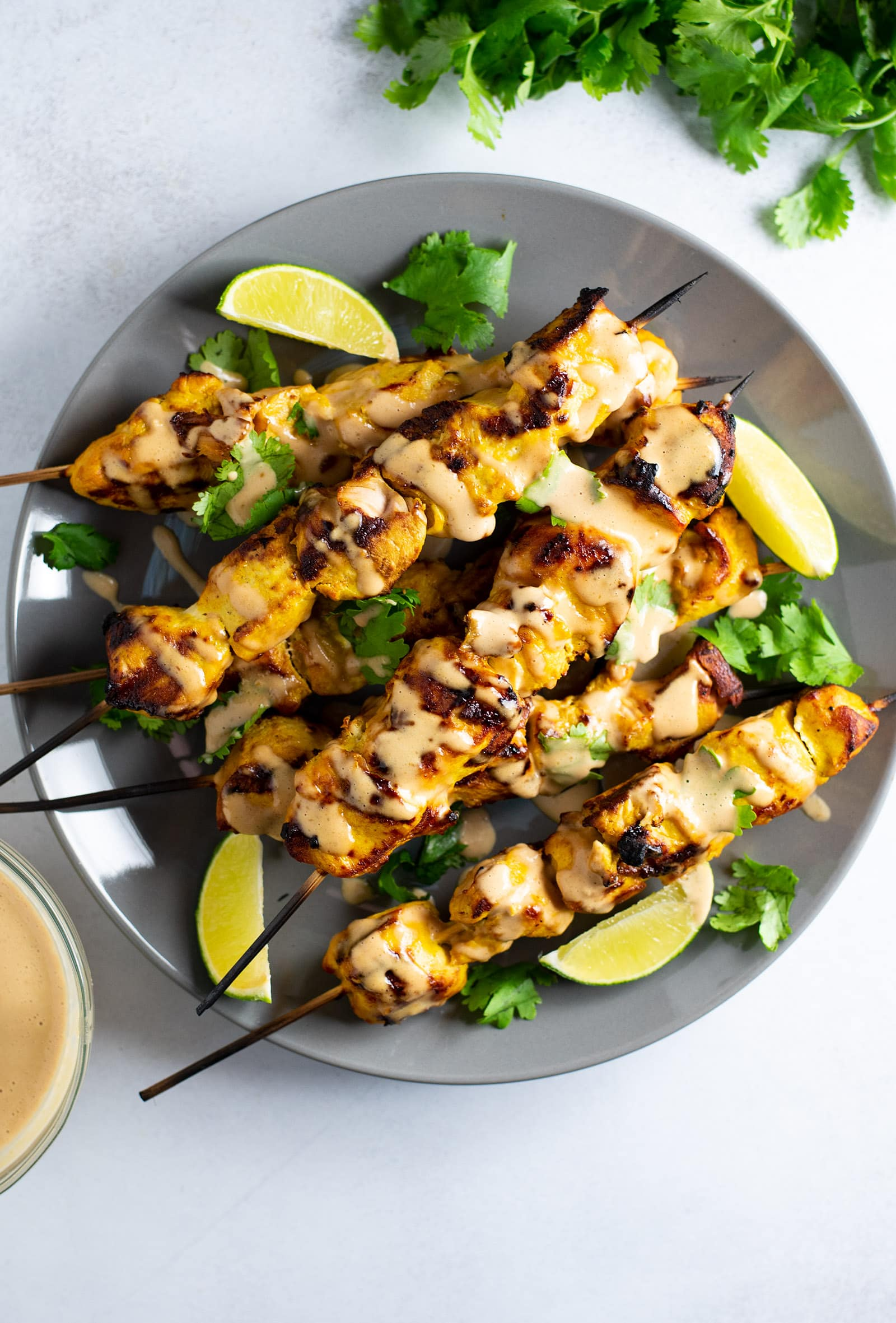 Chicken Satay with Thai Peanut Sauce Recipe