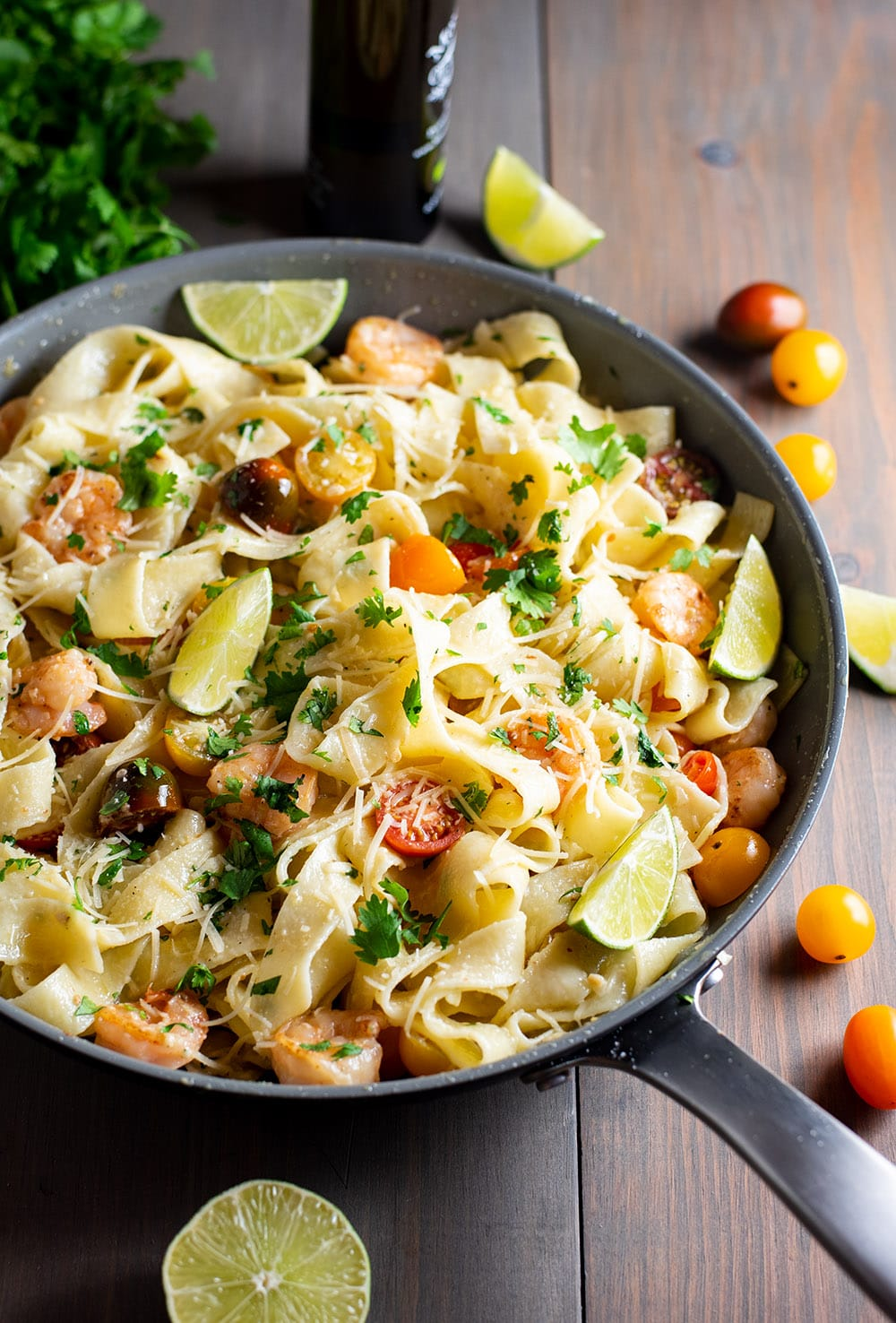 Pappardelle Pasta with Creamy Truffle Oil and Shrimp Recipe
