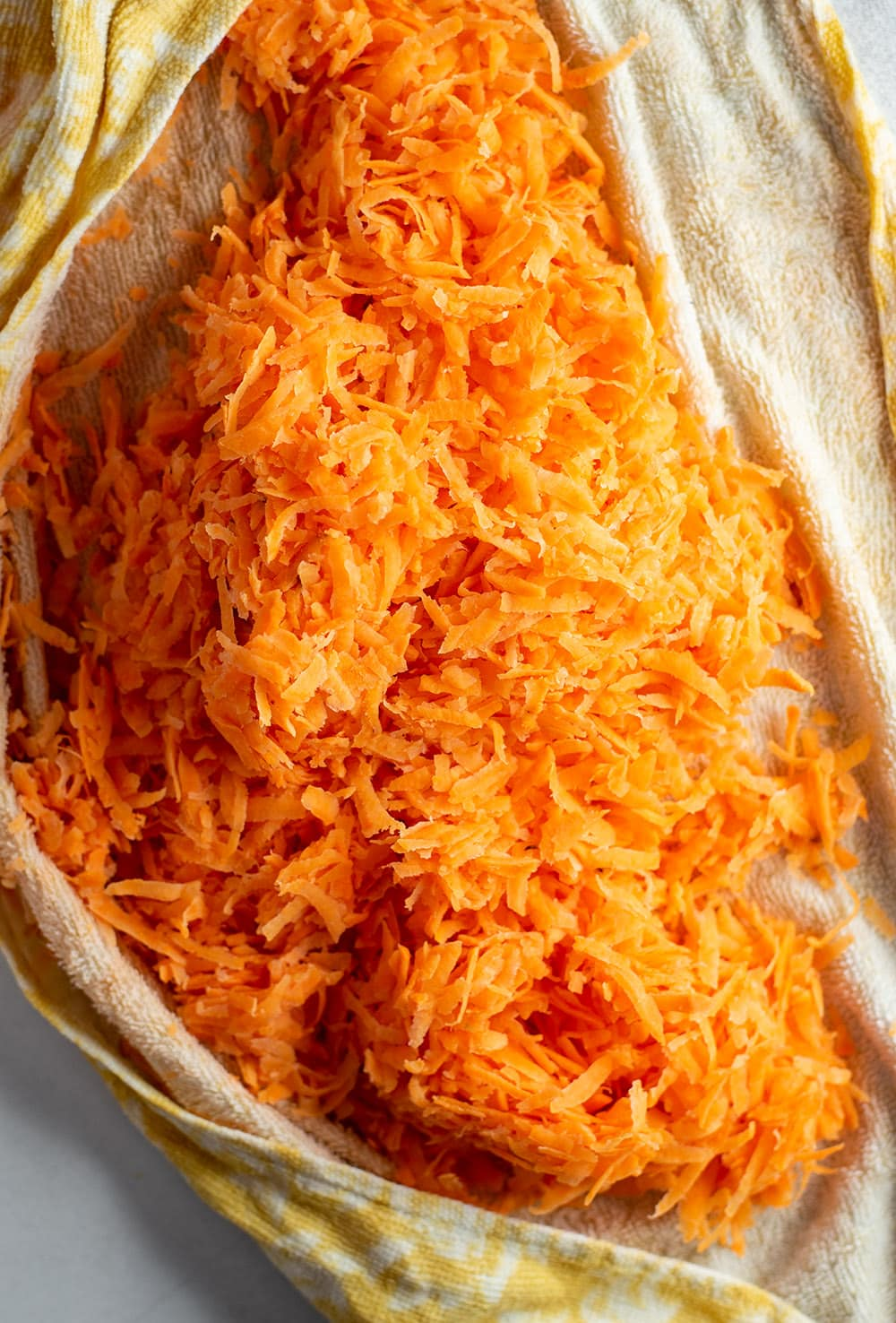 Shredded sweet potatoes