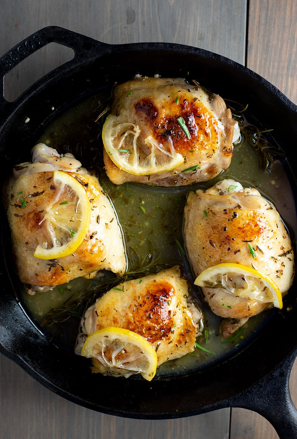 Cast Iron Chicken Thighs With Lemon Amp Rosemary Kitchen Swagger