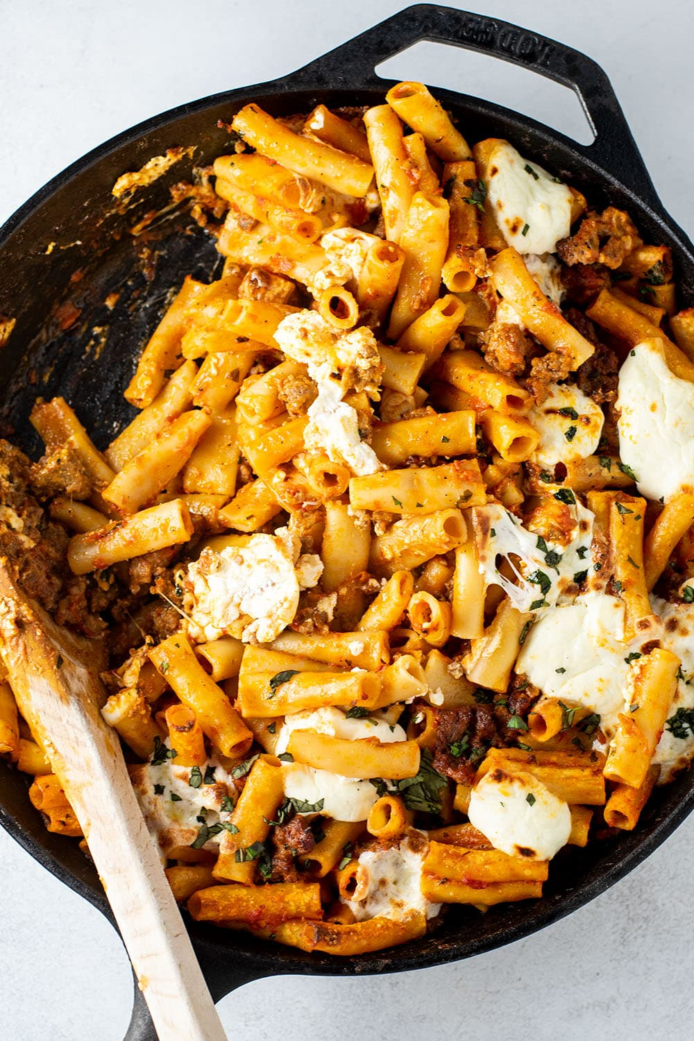 Ultimate Baked Ziti with Ricotta and Sausage