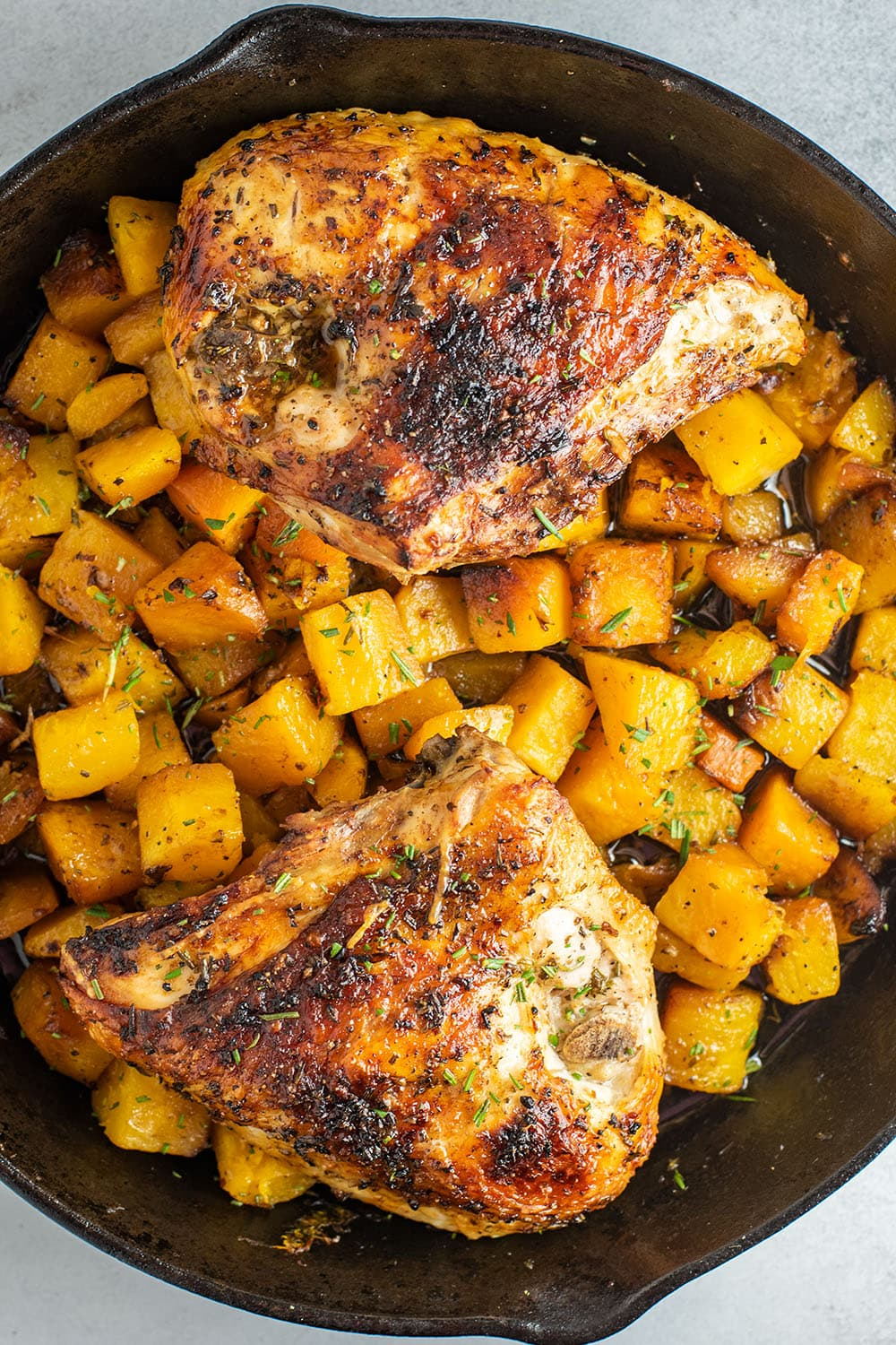 Roasted Chicken Breast with Butternut Squash
