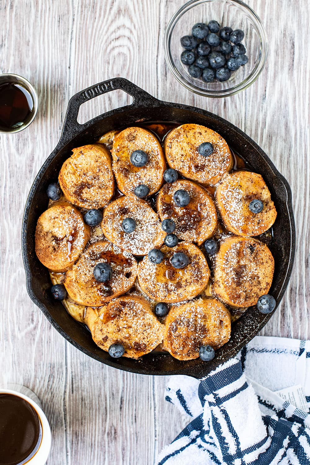 Fancy Baked French Toast recipe made with French bread
