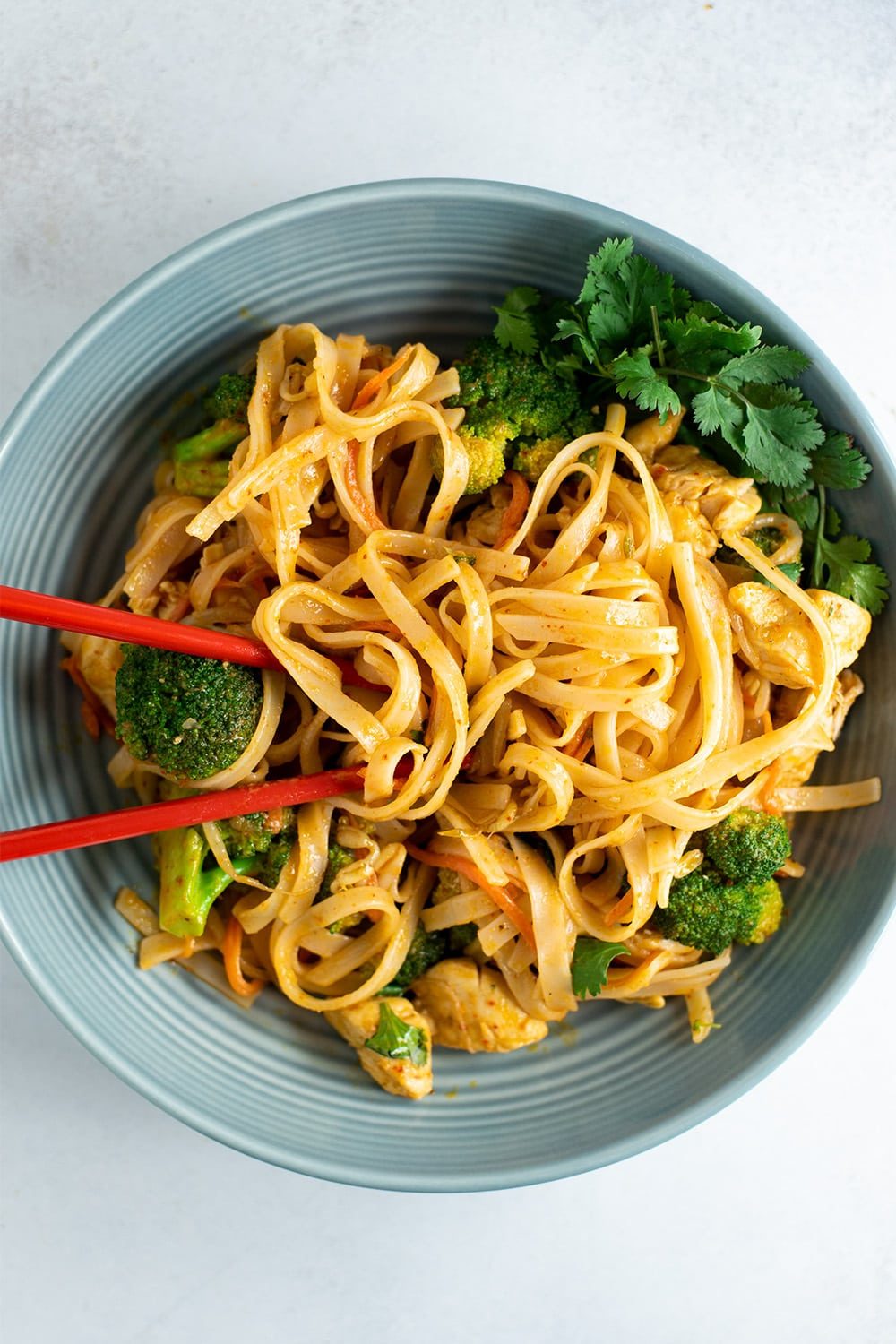 Spicy Coconut Curry Chicken and Rice Noodles Recipe