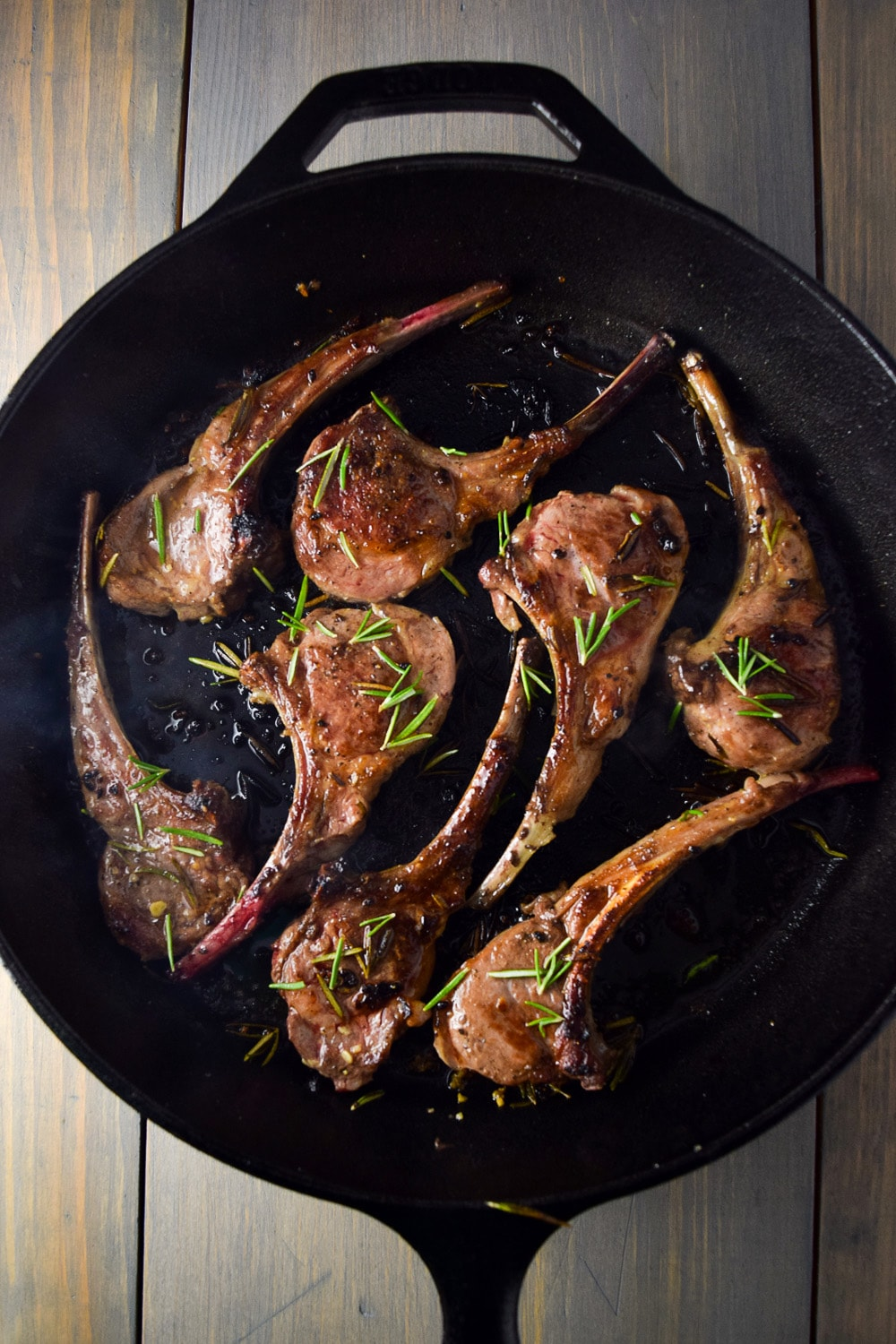 Lamb Lollipops with Garlic & Rosemary Recipe