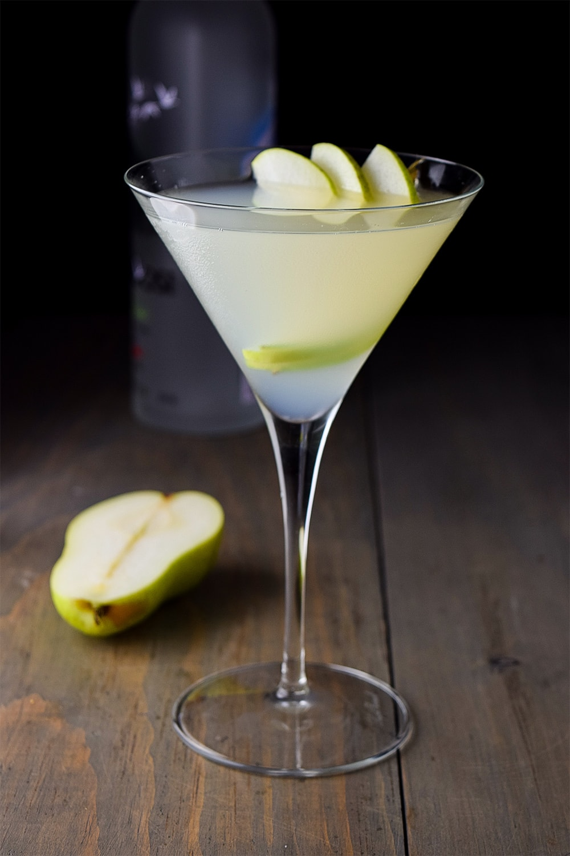 Pear Martini with Elderflower Liqueur Recipe