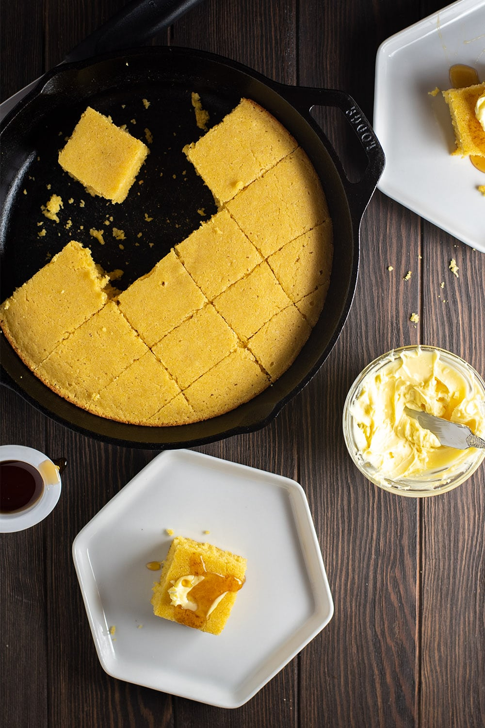 Skillet Cornbread with Maple & Bourbon Recipe