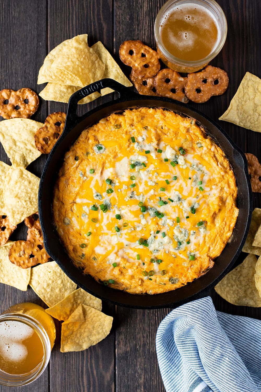Skillet Buffalo Chicken Dip