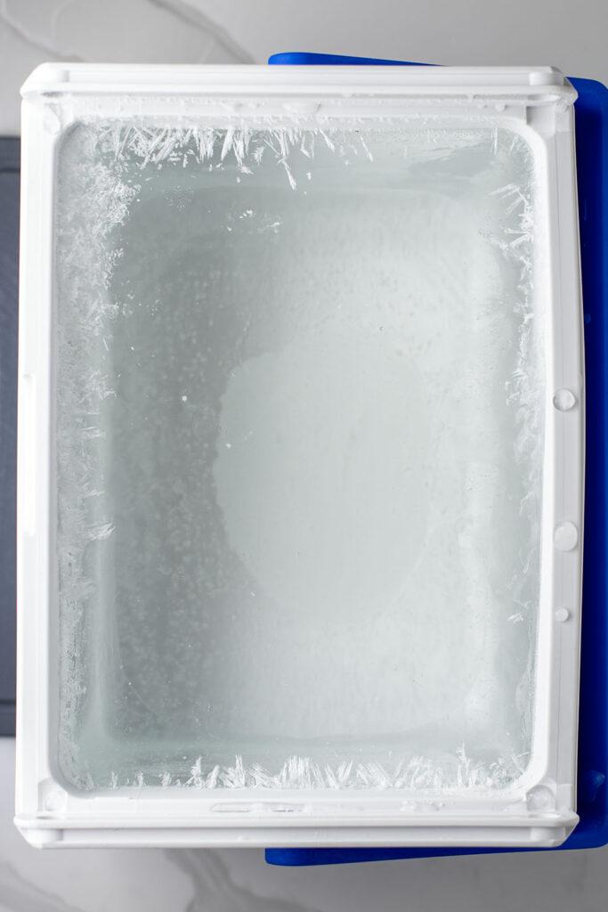 Cooler full of ice