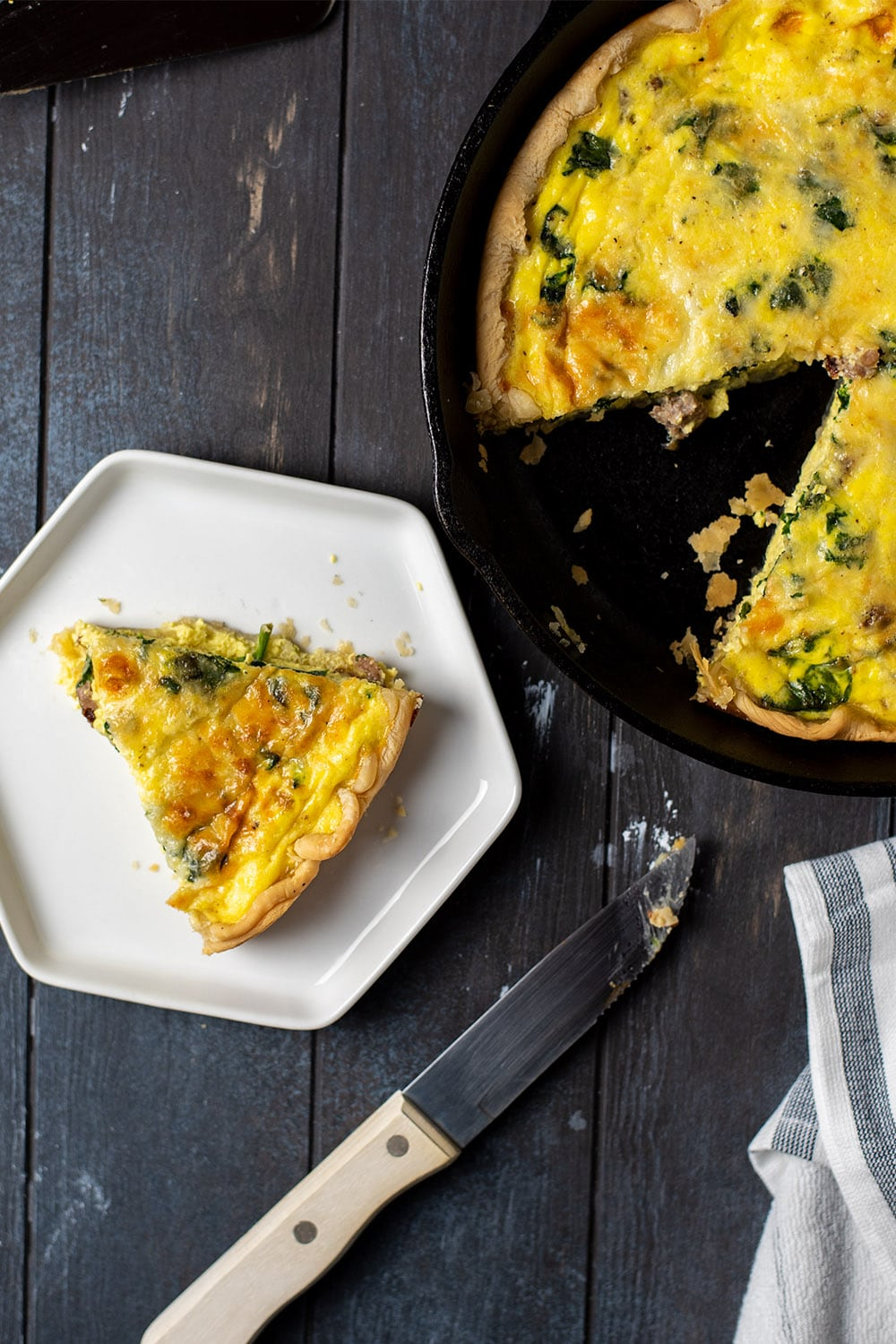Sausage Quiche with Spinach and Cheese Recipe