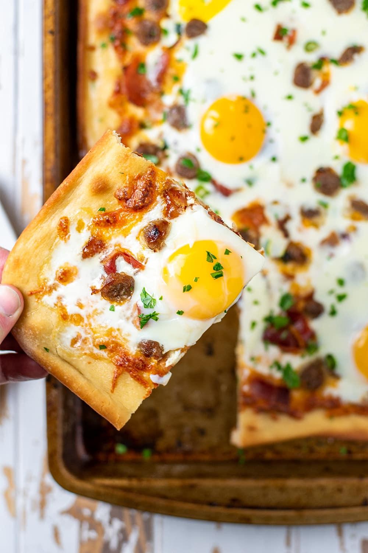 Sheet Pan Breakfast Pizza Recipe