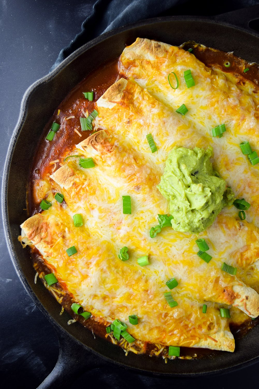 Skillet Chicken Enchiladas Recipe