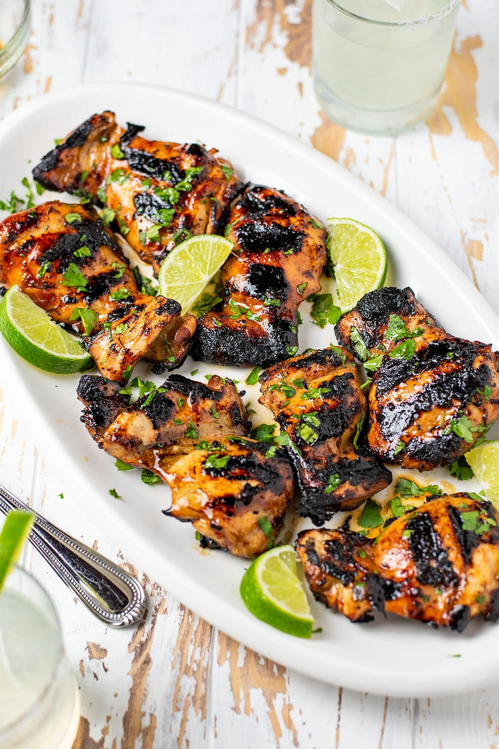 Grilled Honey Sriracha Chicken Thighs Recipe