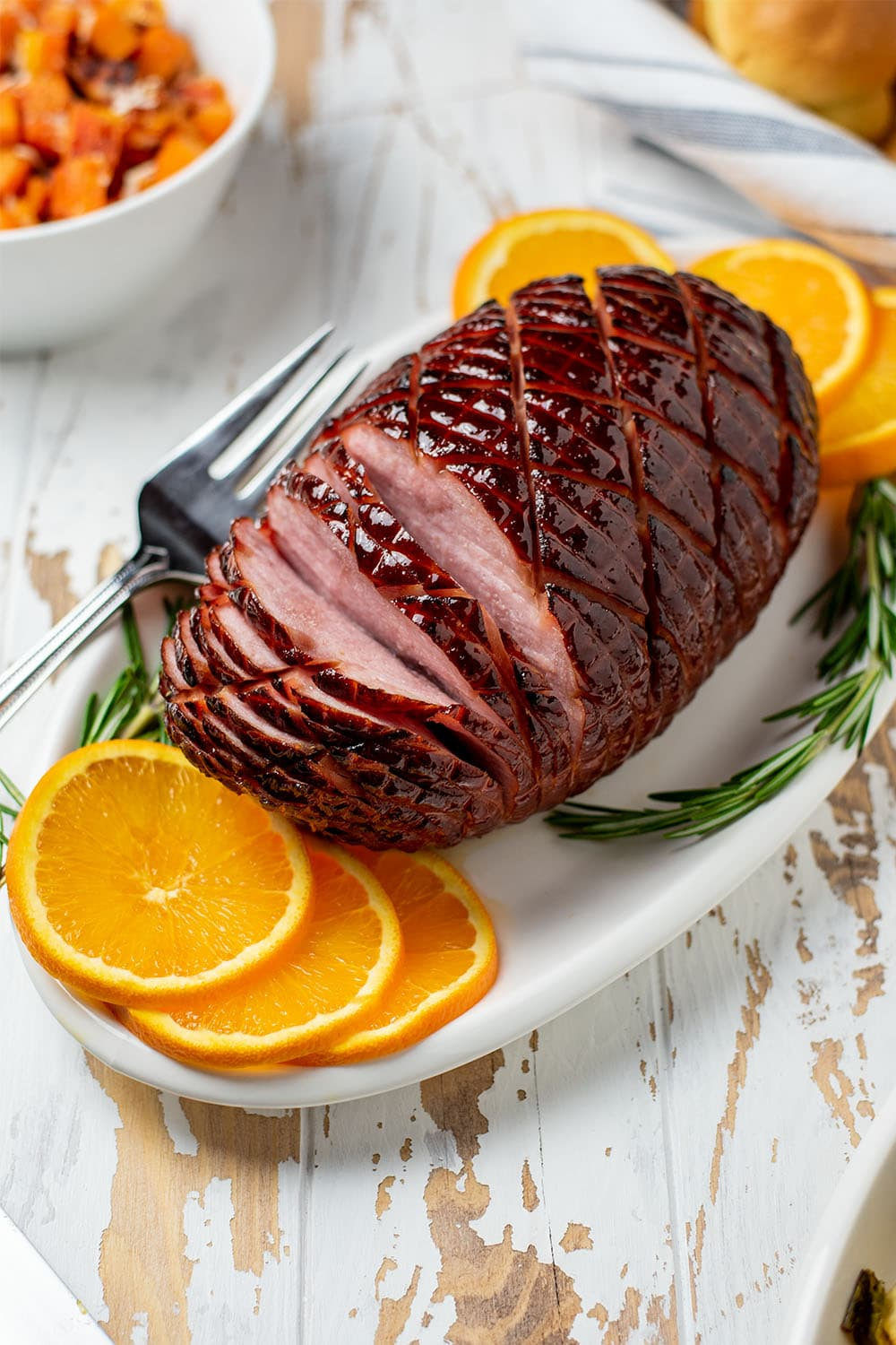 Baked Honey Bourbon Ham Recipe