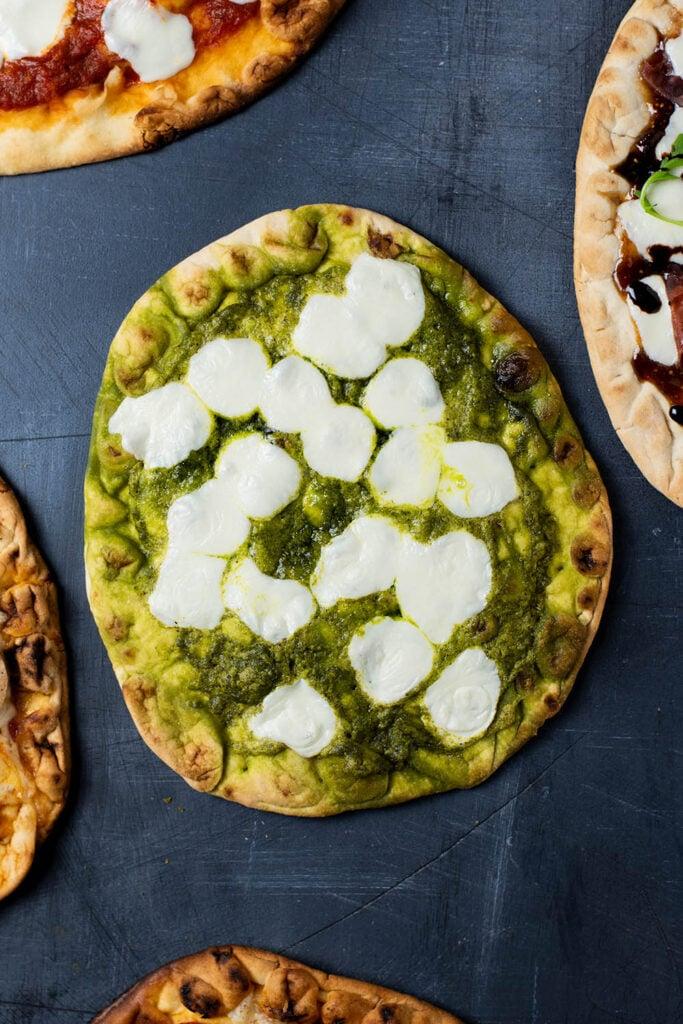 Pesto and Mozzarella Flatbread. 5 Easy Flatbread Pizza Recipes