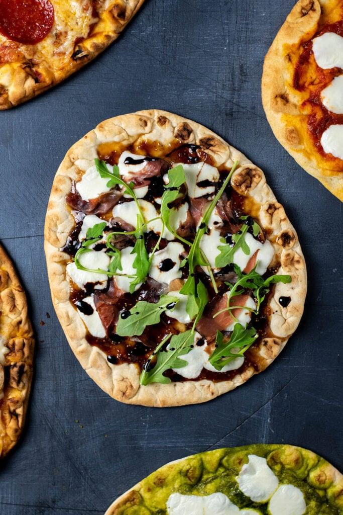 Prosciutto, Fig, and Arugula Flatbread. 5 Easy Flatbread Pizza Recipes