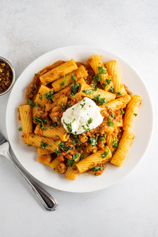 Rigatoni Bolognese Recipe