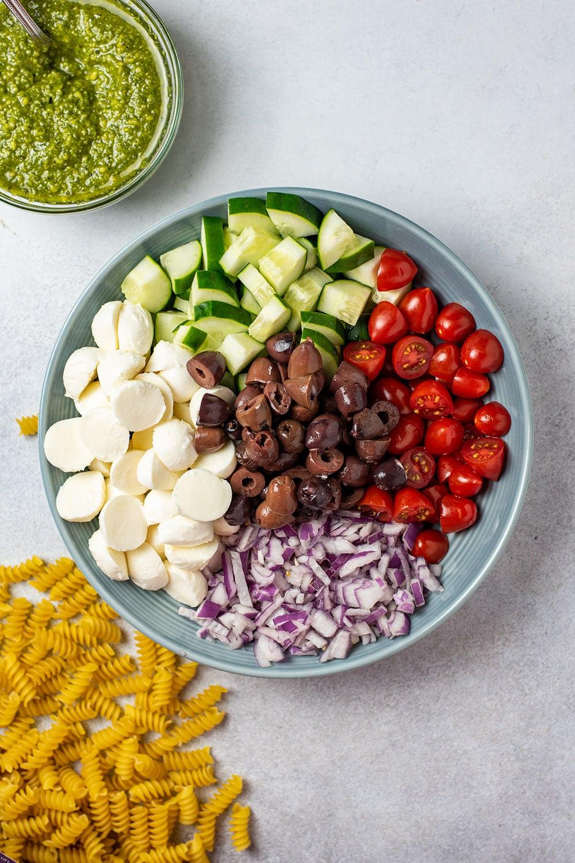 Pesto Pasta Salad Ingredients